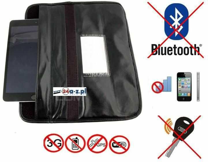 Duży Pokrowiec na Tablet/Smartfon, Kluczyk Samoch.. (chroni przed inwigilacją..), Blokuje Sygnał.