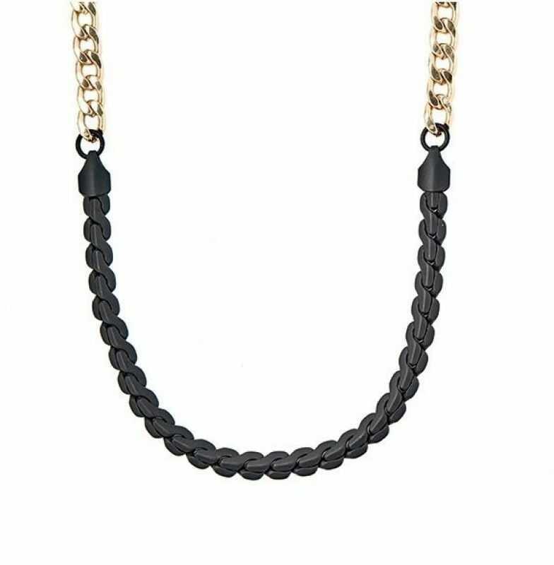 Biżuteria uniwersalne Icon Brand Jewellery Twice Nice Necklace P1025-N-GLD