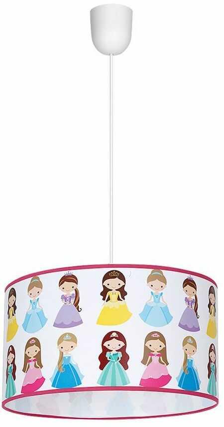 Milagro PRINCESS MLP4306 lampa wisząca dziecięca klosz księżniczki 1xE27 30cm