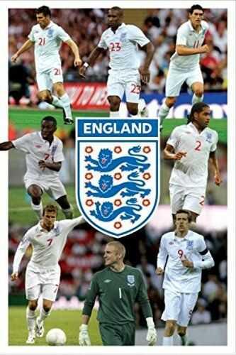 1art1 49122 piłka nożna - Anglia F.A, plakat montażowy 8 graczy, 91 x 61 cm
