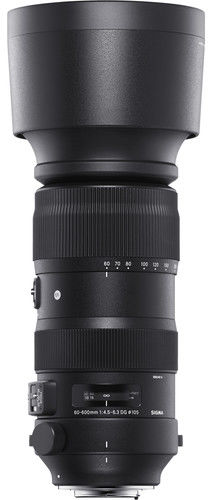 Sigma S 60-600mm f/4.5-6.3 DG OS HSM - obiektyw zmiennoogniskowy do Nikon F Sigma S 60-600mm f/4.5-6.3 DG OS HSM / Nikon / Teleobiektyw Zoom