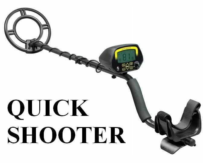 Wykrywacz Metali QUICK SHOOTER z Ekranem LCD + Rozróżnianie Metali + Wskaźnik Głębokości...