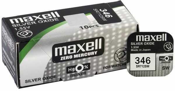 bateria srebrowa mini Maxell 346 / SR712SW