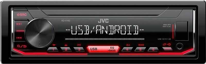JVC KDX-162 Radio samochodowe USB RED
