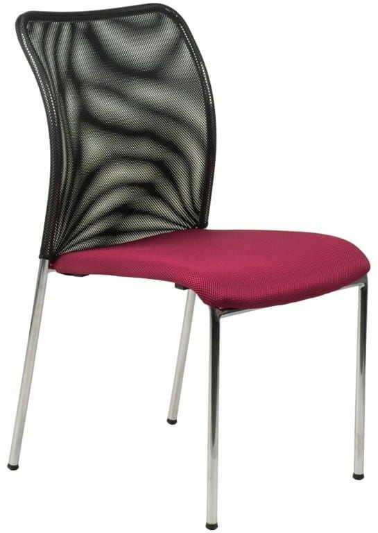 Krzesło konferencyjne HN-7502CH/BORDO. Stelaż chromowany. Krzesło biurowe