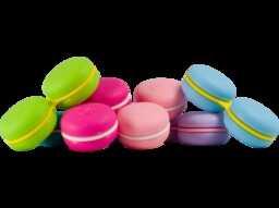 Macaron- pojemnik do soczewek w kształcie ciastka