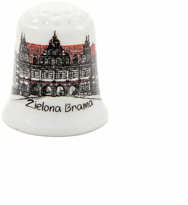 Naparstek ceramiczny Gdańsk Zielona Brama oldbook