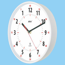 Zegar chodzący wstecz biały 30cm