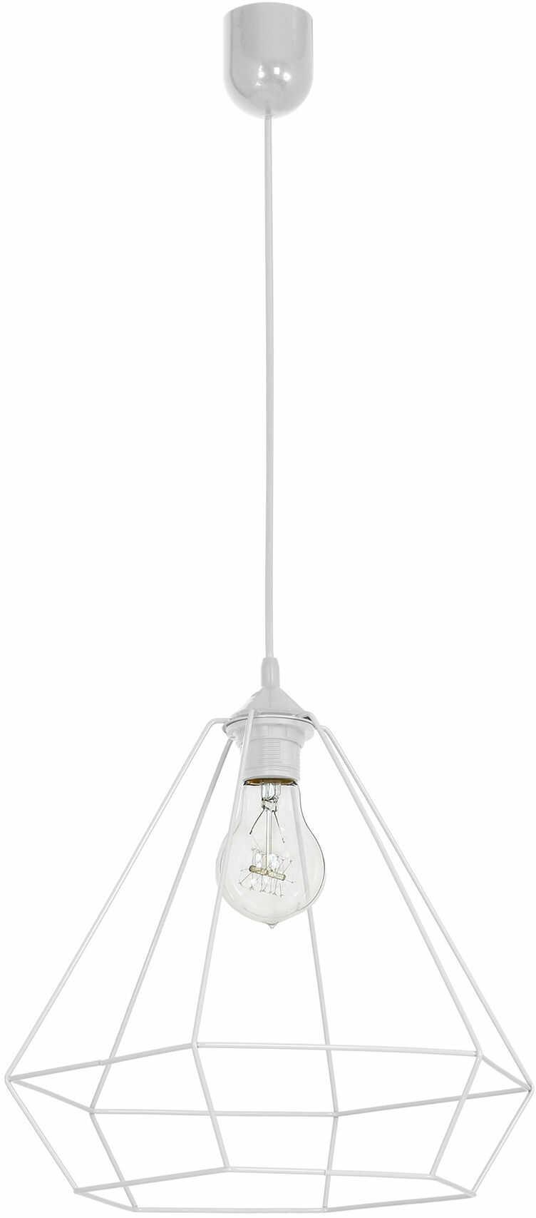 Milagro ALMA WHITE MLP8962 lampa wisząca klosz przestrzenny metalowy o geometrycznym kształcie 1xE27 35cm