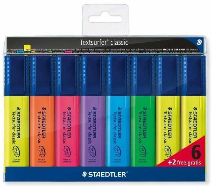 Zakreślacze Staedtler 6plus2 gratis 364178