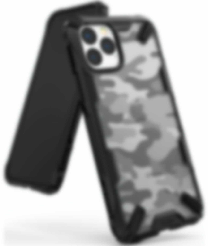 Etui Ringke Fusion-X Design Apple iPhone 12/12 Pro Camo (Moro) Black