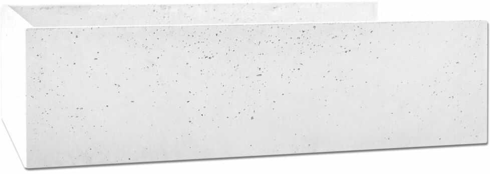 Donica betonowa BOX L 90x45x25 biały