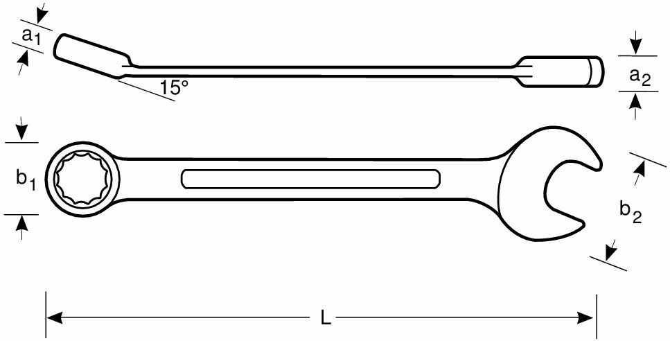 nieiskrzący klucz płasko-oczkowy [NS002-10]