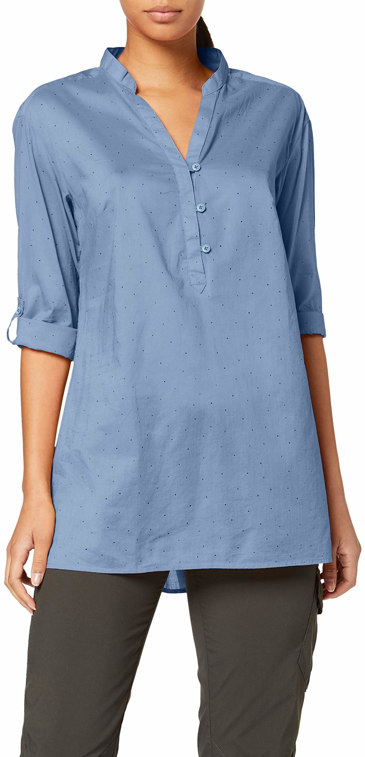 Columbia Early Tide Tunic Bluse, Blue Dusk Dots, L