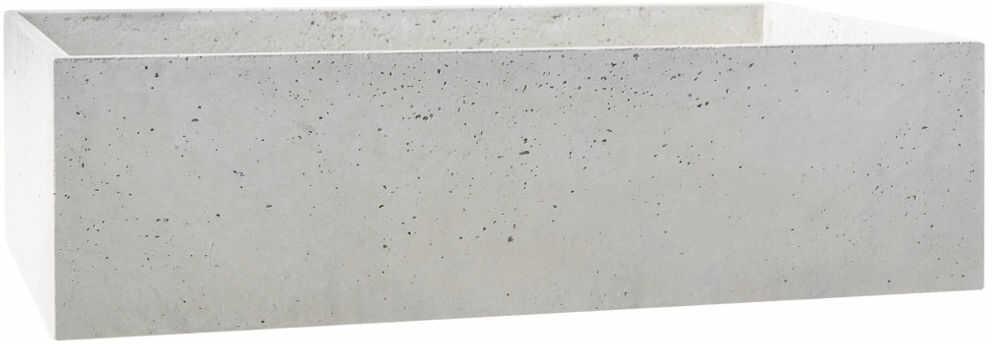 Donica betonowa BOX L 90x45x25 szary naturalny