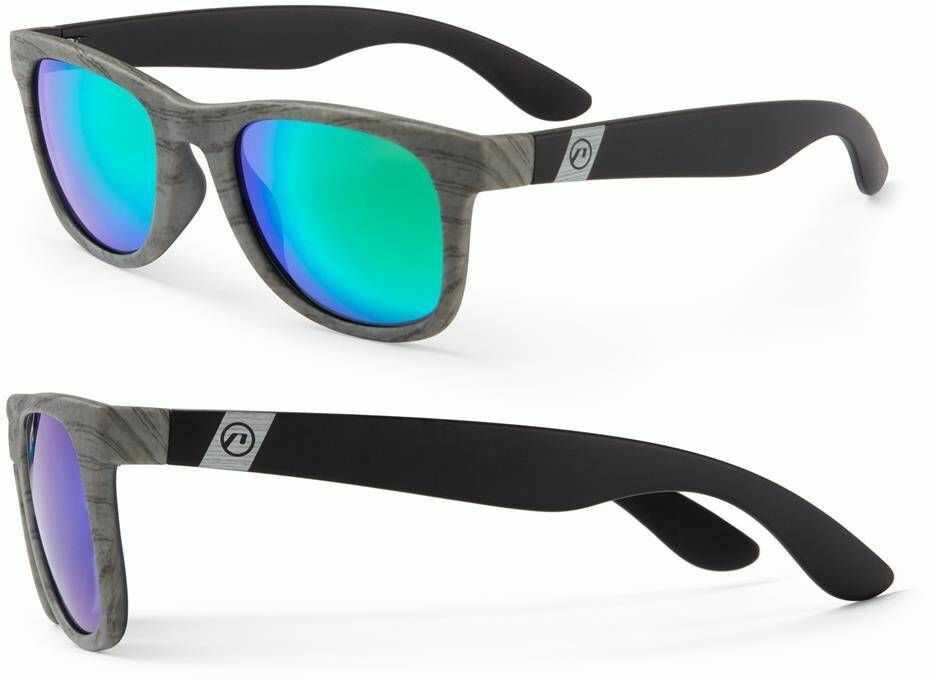 Okulary Accent Respect czarno - szare faktura drewna