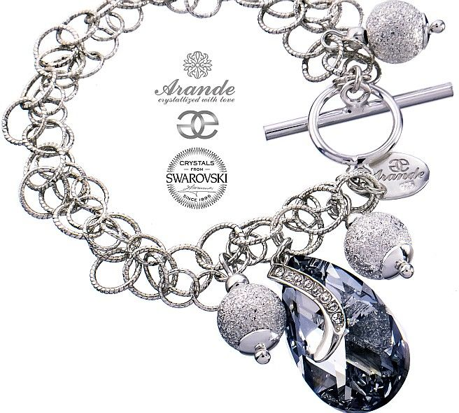 Kryształy ozdobna bransoletka COMET SENTI SREBRO