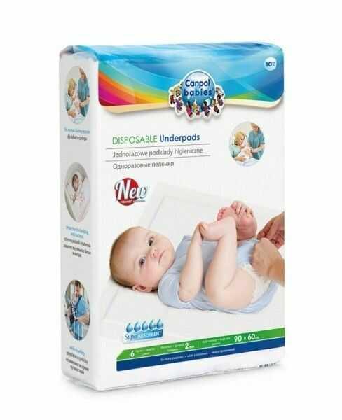 CANPOL BABIES Podkłady higieniczne 90/60, 10szt