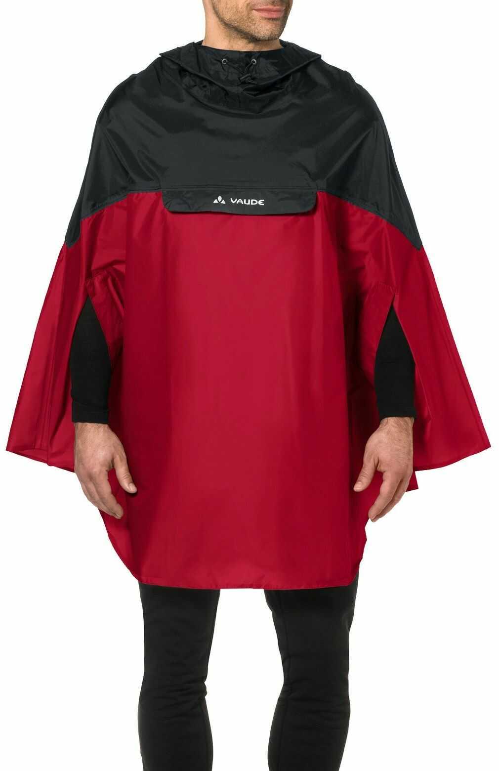 Vaude Poncho męskie Covero Poncho II, indian red, M, 068096140300