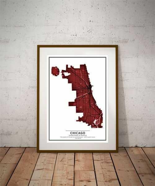 Crimson cities - chicago - plakat wymiar do wyboru: 59,4x84,1 cm