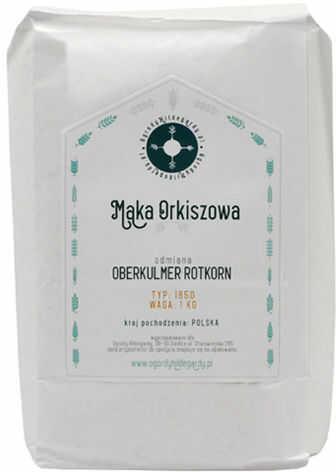 Mąka orkiszowa - Mąka typ 1850 Orkisz 1 kg, - PL18501