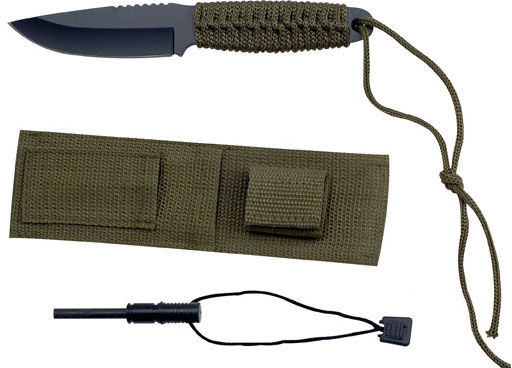 Nóż Master Cutlery Camping Knife with Sheath and Firestarter