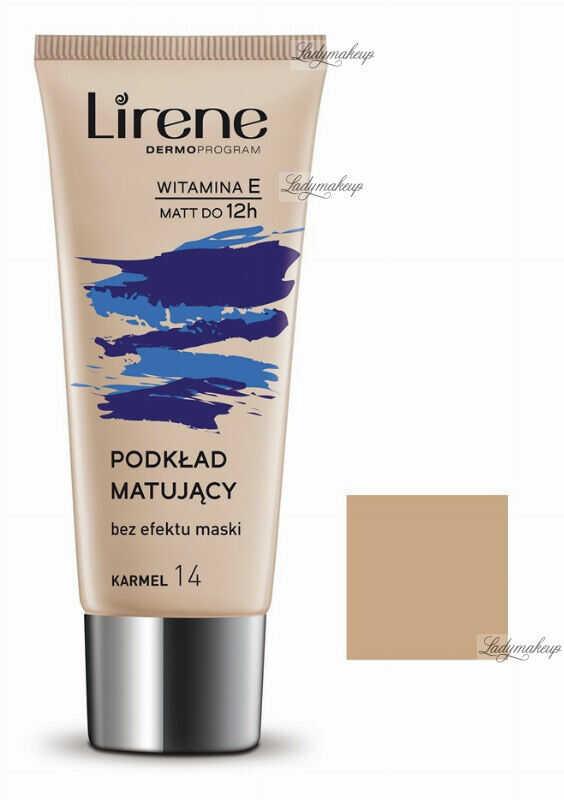 Lirene - Nature MATTE - Fluid matujący - 14 - KARMEL