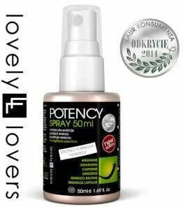 Potency Spray Płyn erekcyjny z argininą i żeń-szeniem Lovely Lovers 50 ml 650159