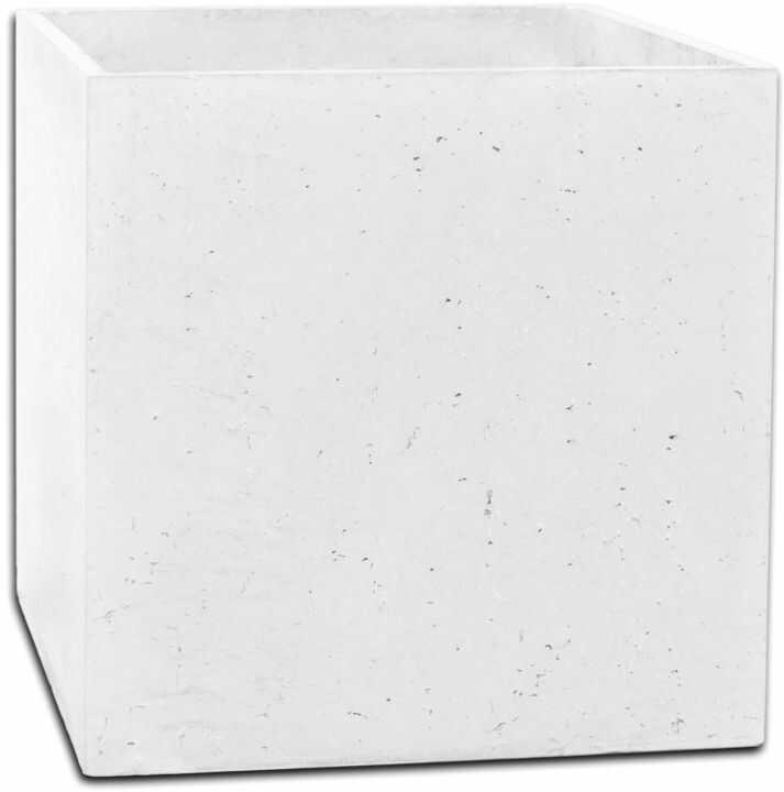 Donica betonowa BOX M 45x45x45 biały