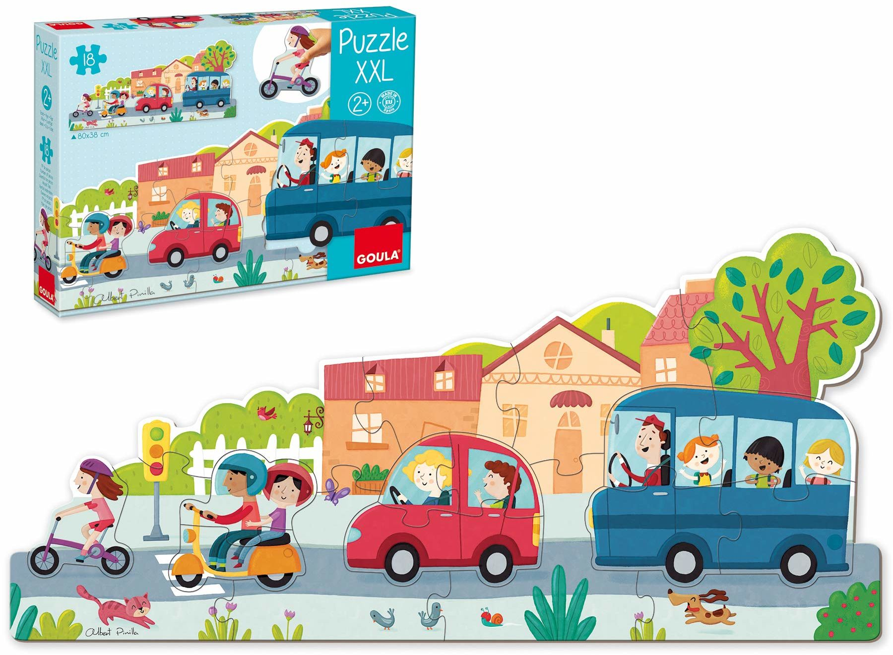 Goula 453428 Puzzle XXL puzzle, puzzle dziecięce