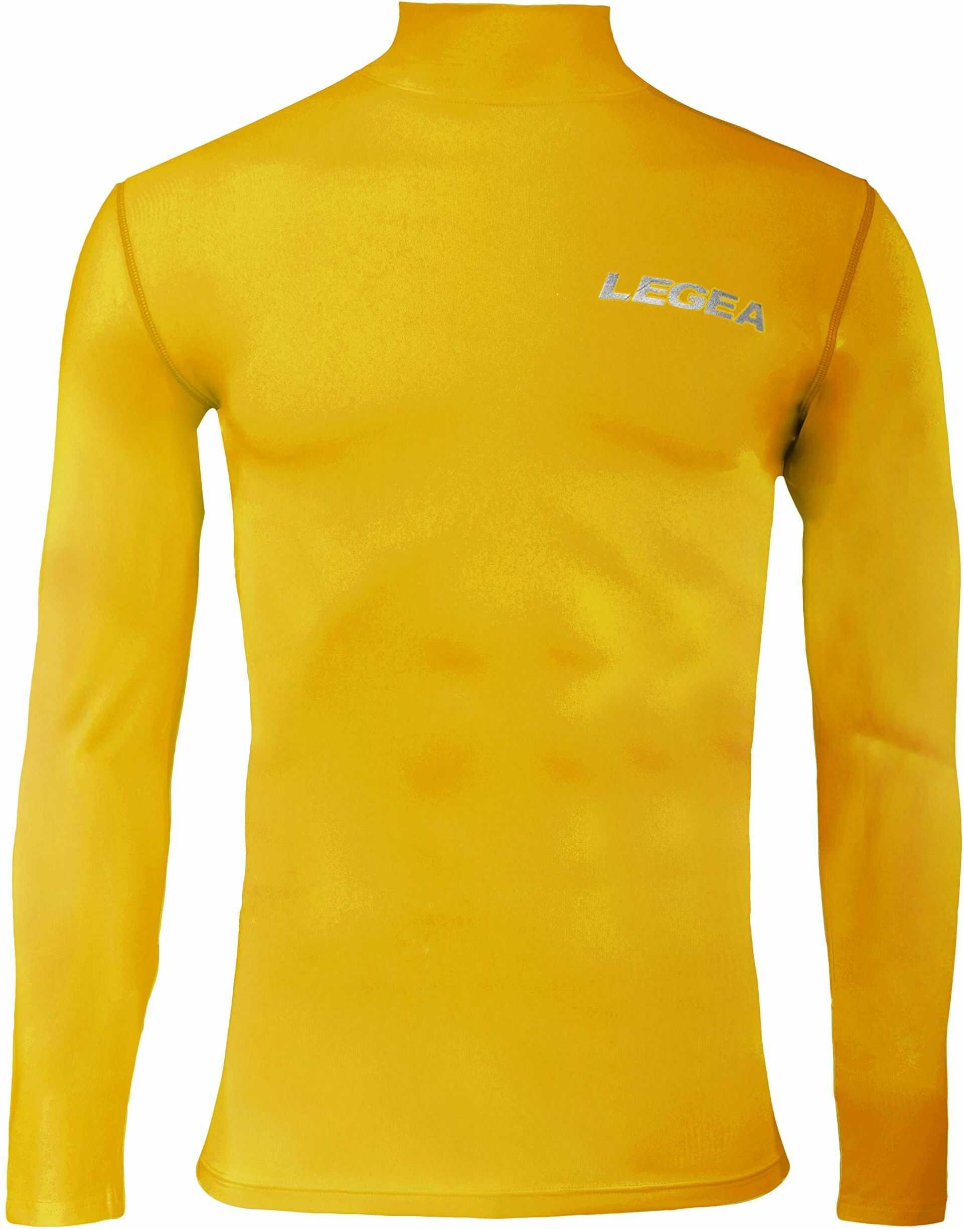 Legea Body 6 Dynamic męska koszulka z długim rękawem wysoki kołnierz żółty rozmiar: FR: XXL (Tkanina ogonowa: XXL)