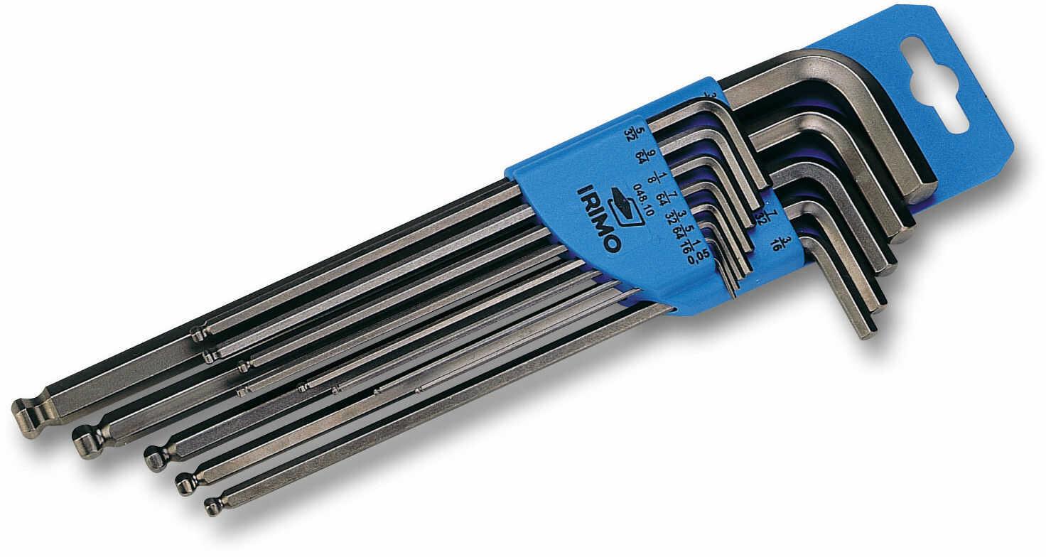 komplet kluczy trzpieniowych do śrub imbusowych calowy IRIMO [48A-13-H]