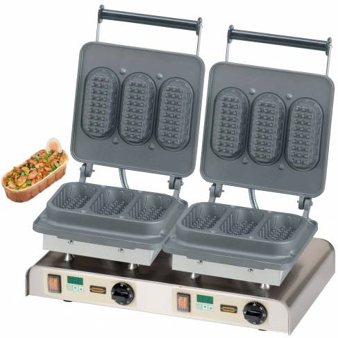 Gofrownica podwójna Baguette Waffle 400V / 4,4kW