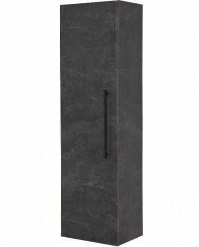 Regał łazienkowy grafitowy 45x155cm, Czarny uchwyt, Styl Glamour, Gante Negra