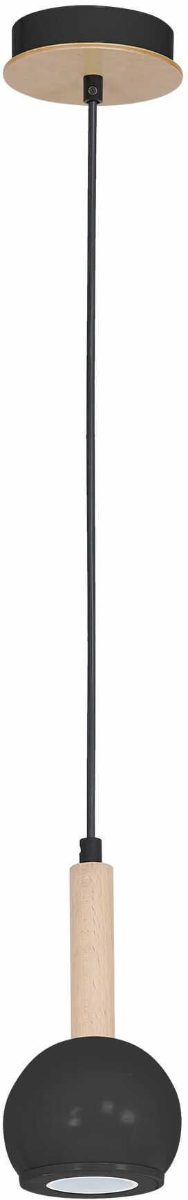 Milagro BOLLE BLACK MLP8843 lampa wisząca półokragły klosz czarny regulowana wysokość 1xGU10 12cm