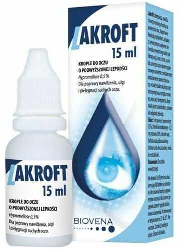 Lakroft nawilżające krople do oczu 15 ml