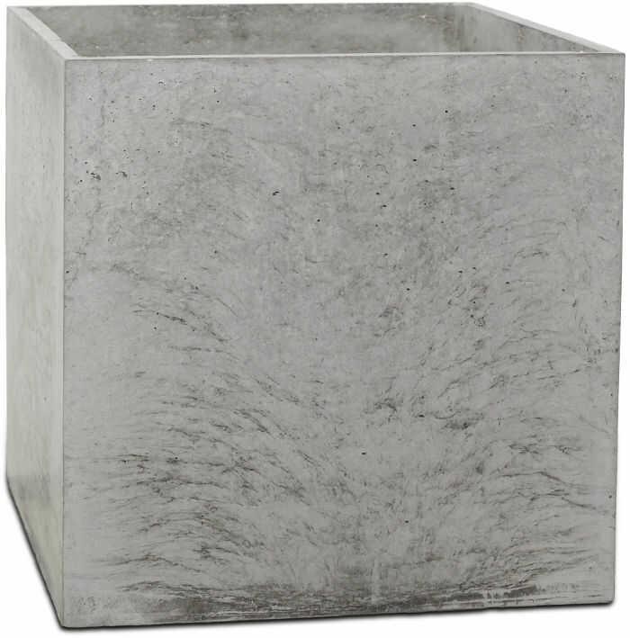 Donica betonowa BOX M 45x45x45 szary naturalny