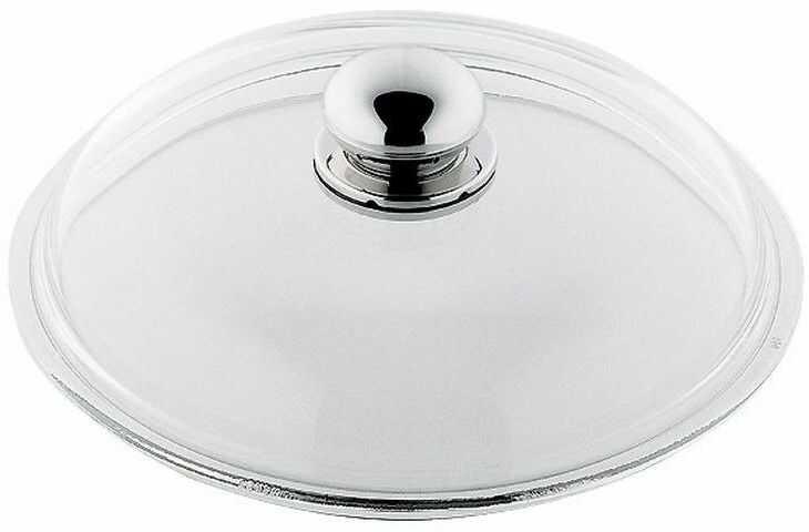Silit - pokrywa szklana 20 cm ze stalowym uchwytem