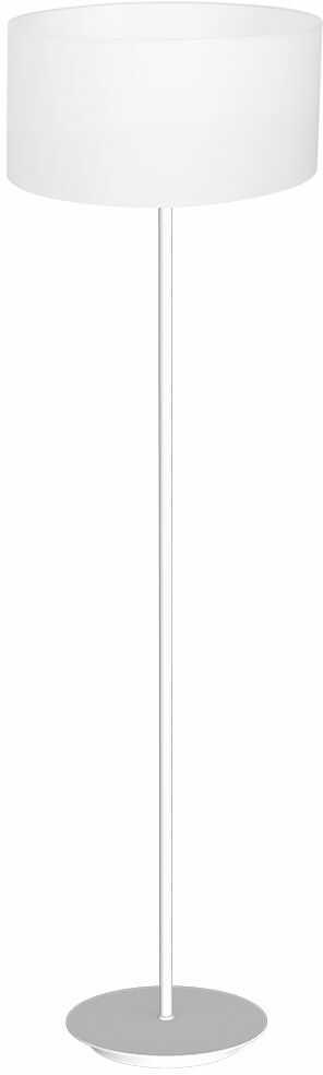 Milagro BARI WHITE MLP4682 lampa podłogowa biała metalowa oraz stylowo wyglądająca tkanina 1xE27 150cm