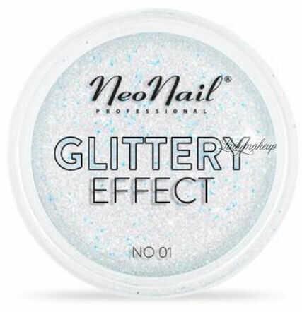 NeoNail - GLITTERY EFFECT - Gruby pyłek do stylizacji paznokci - Efekt brokatu - 01