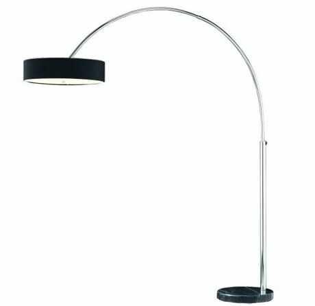 Lampa podłogowa Aruba AZ0169 AZzardo czarna oprawa w nowoczesnym stylu
