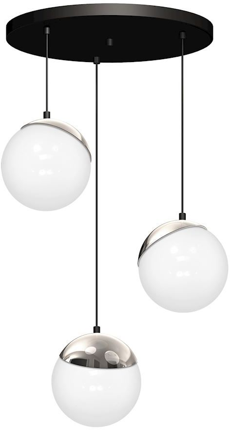 Milagro SFERA MLP8884 lampa wisząca metalowa chrom klosze kule szkło 3xE14 35cm
