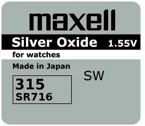 Bateria srebrowa mini Maxell 315 / 314 / SR 716