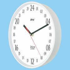 Zegar naścienny 24-godzinny biały #2
