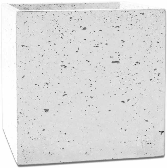Donica betonowa BOX S 35x35x35 biały