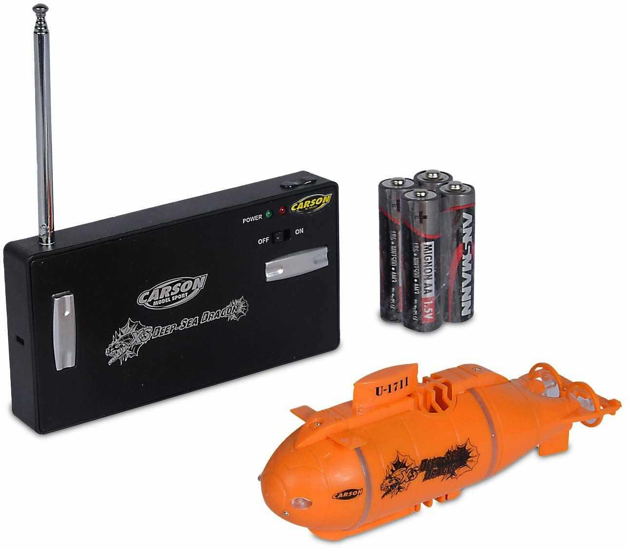 Carson 500707117 - XS Deep Sea Dragon 100%RTR(pomarańczowy), zdalnie sterowany łódź, łódź RC
