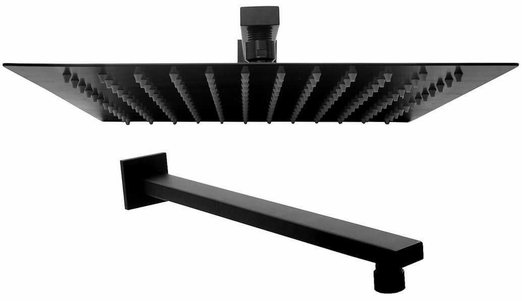 Rea Deszczownica aluminiowa Rea Ultra Slim Square 30x30 Czarna Matowa