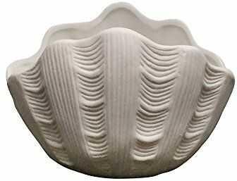 Light Glow Tridacna Shell świecznik, porcelana, biała, 10 x 10 x 5 cm