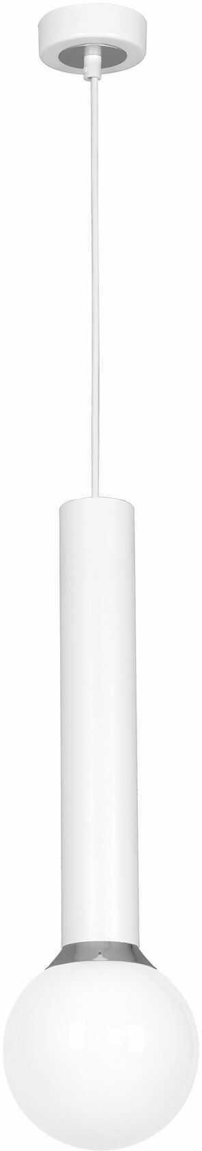 Milagro AURIS WHITE MLP4843 lampa wisząca metalowa biel/ chrom klosz kula szklana 1xE14 14cm