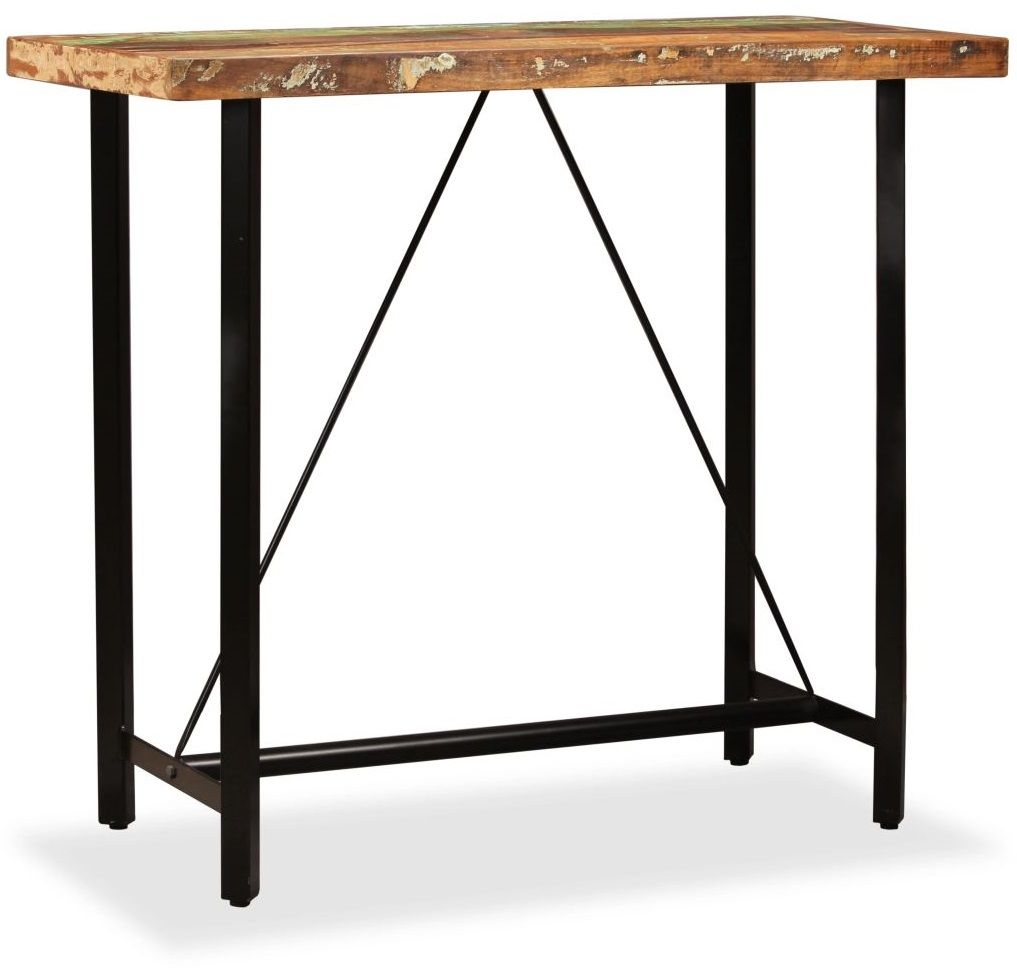 Wielokolorowy stolik z drewna odzyskanego  Chris 3X